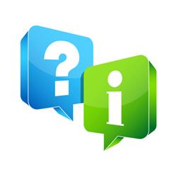 Speech Bubbles Question & Information Blue/Green